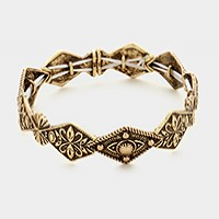 Antique metal stretch bracelet