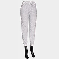 Mesh ripped hole drawstring pants