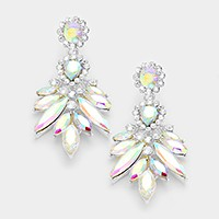 Glass crystal statement earrings