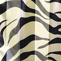 Silk feel striped zebra pattern scarf