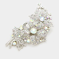 Pave flower brooch