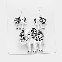 Elephant pendant set