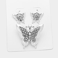 Butterfly pendant set