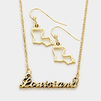 Louisiana pendant necklace
