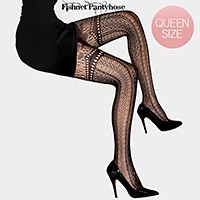 Vertical Multi Lace Pattern Fishnet Pantyhose Tights