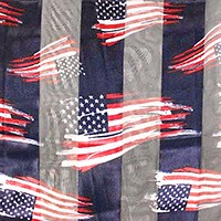 Silk feel striped American flag scarf