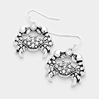 Pave crab earrings