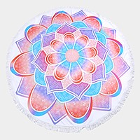 Lotus _ Round beach terry towel
