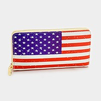 American flag _ Zip around wallet