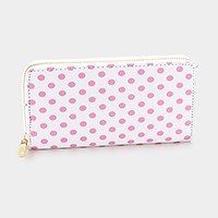 Polka dot _ Zip around wallet