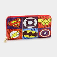 Superhero logo pop art _ Zip around wallet