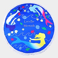 Mermaid _ Round beach terry towel