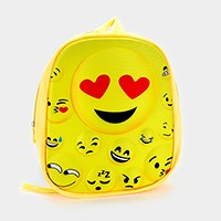 Embossed emoji backpack bag