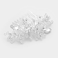 Glass crystal marquise embellished vine hair comb
