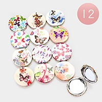 12 PCS - Butterfly compact mirrors