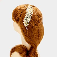 Pave feather hair comb