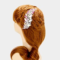 Glass crystal marquise petal hair comb