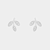 CZ sprout stud earrings