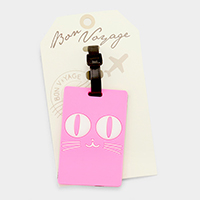 Cat _ Bon Voyage rubber luggage tag