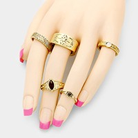 5 PCS - Mixed tribal rings