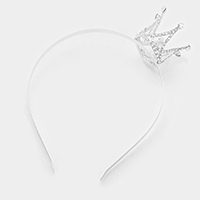 Pave mini crown headband