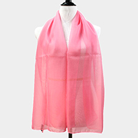 Solid silk feel scarf
