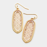 Two tone hexagon earrings