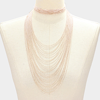 2 ways multi chain choker necklace