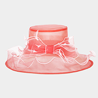 Bow detail organza hat