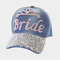Bride _ Bling baseball cap