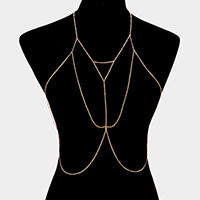 Draped body chain necklace