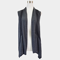 Color block vest cardigan