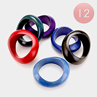 12 PCS - Wooden bangle bracelets