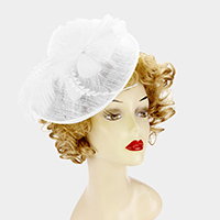 Sinamay feather fascinator