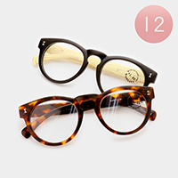 12 Pairs - Assorted power round reading glasses