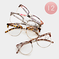 12 Pairs - Assorted power double frame reading glasses