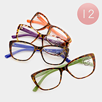 12 Pairs - Assorted power reading glasses