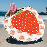 Strawberry _ multi-way round beach throw