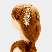 Glass crystal marquise vine hair comb