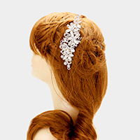 Glass crystal marquise flower vine hair comb