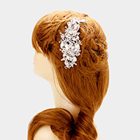 Glass crystal teardrop vine hair comb
