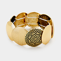 Textured metal stretch bracelet
