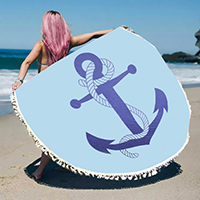 Anchor _ multi-way round beach throw