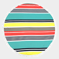Stripe _ Round beach terry towel