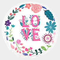 Love _ Round beach terry towel