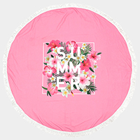 Summer _ Round beach terry towel