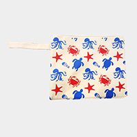 Sea Animal Wet Bikini Beach Clutch Bag