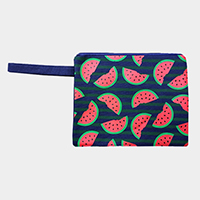Watermelon Wet Bikini Beach Clutch Bag