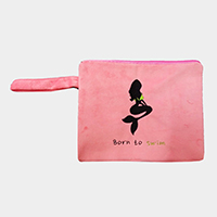 Born to Swim Wet Bikini Beach Clutch Bag