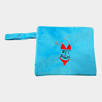 Wet Bikini Beach Clutch Bag